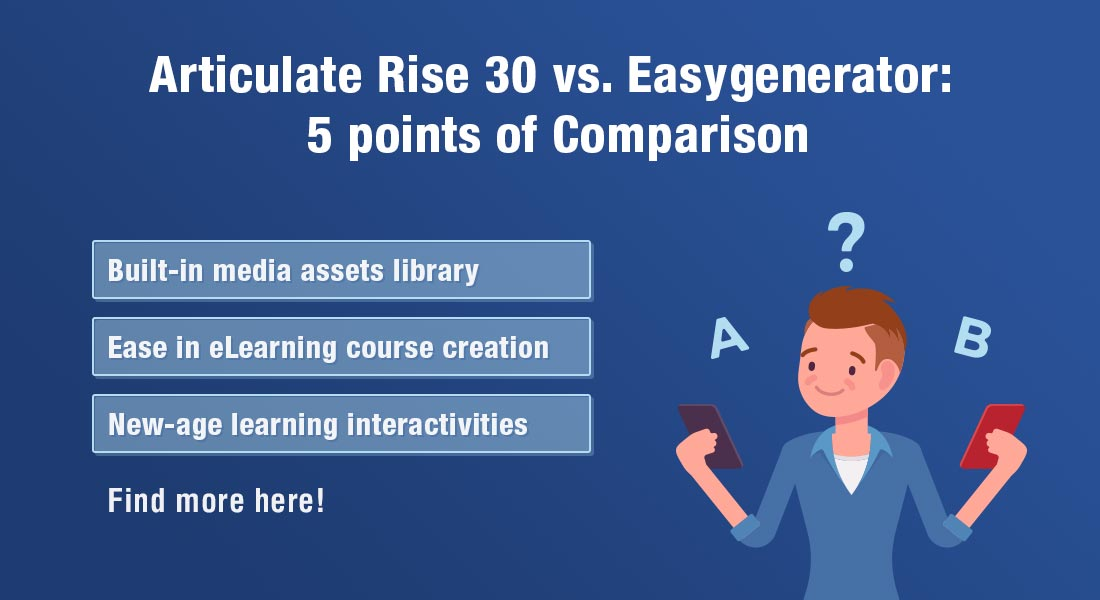 Articulate Rise 360 vs. Easygenerator: A Comparison for Rapid eLearning