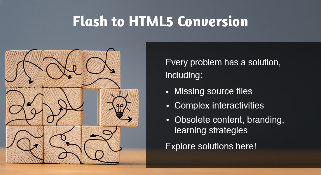 Flash to HTML5 Conversion: Problems and Solutions [SlideShare]
