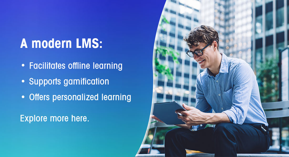 Learning in the Flow of Work with a Modern LMS [Infographic]