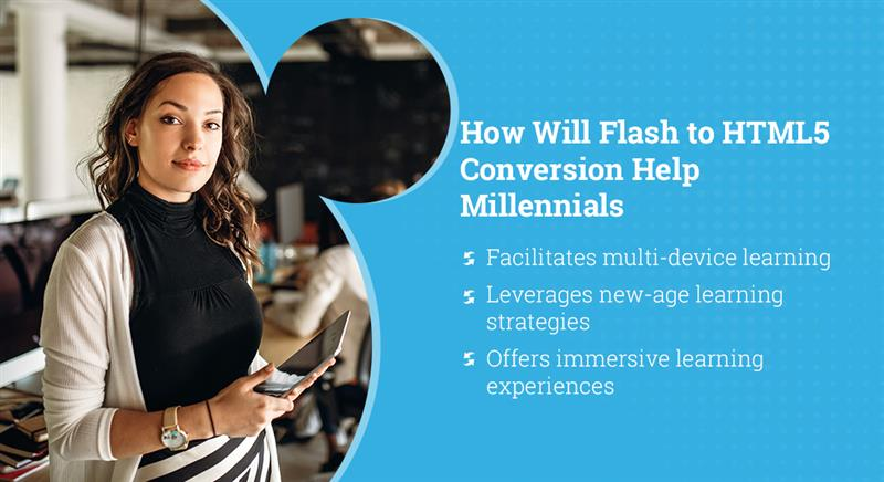 Flash to HTML5 Conversion: Do it for the New-Gen Workforce