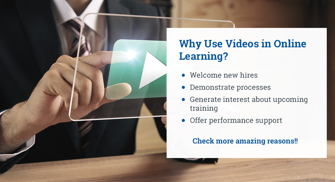 Videos in Online Learning: Good Reasons to Use Them