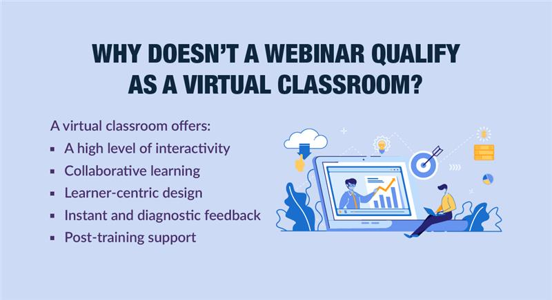 Virtual Instructor-led Training: 5 Aspects that Differentiate it from Webinars