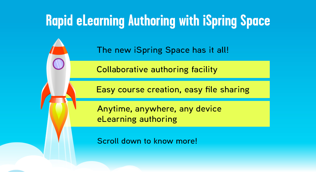 Rapid eLearning Authoring Made Easy with iSpring Space