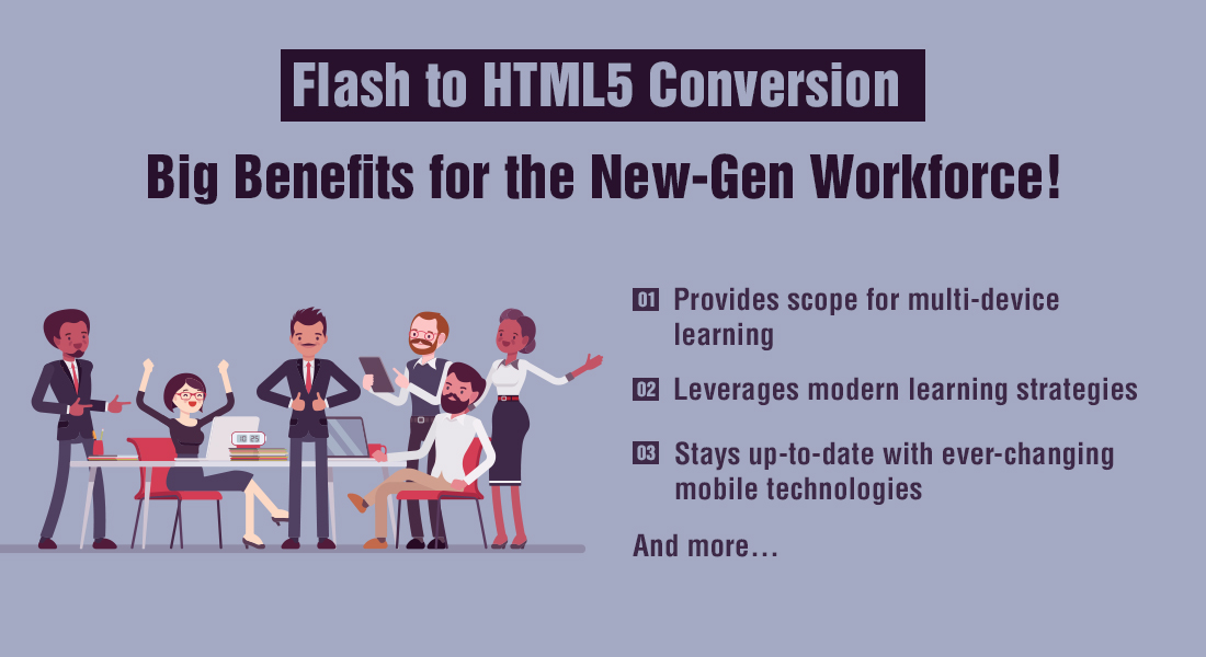 Flash to HTML5 Conversion: 5 Benefits to Millennials [Slideshare]