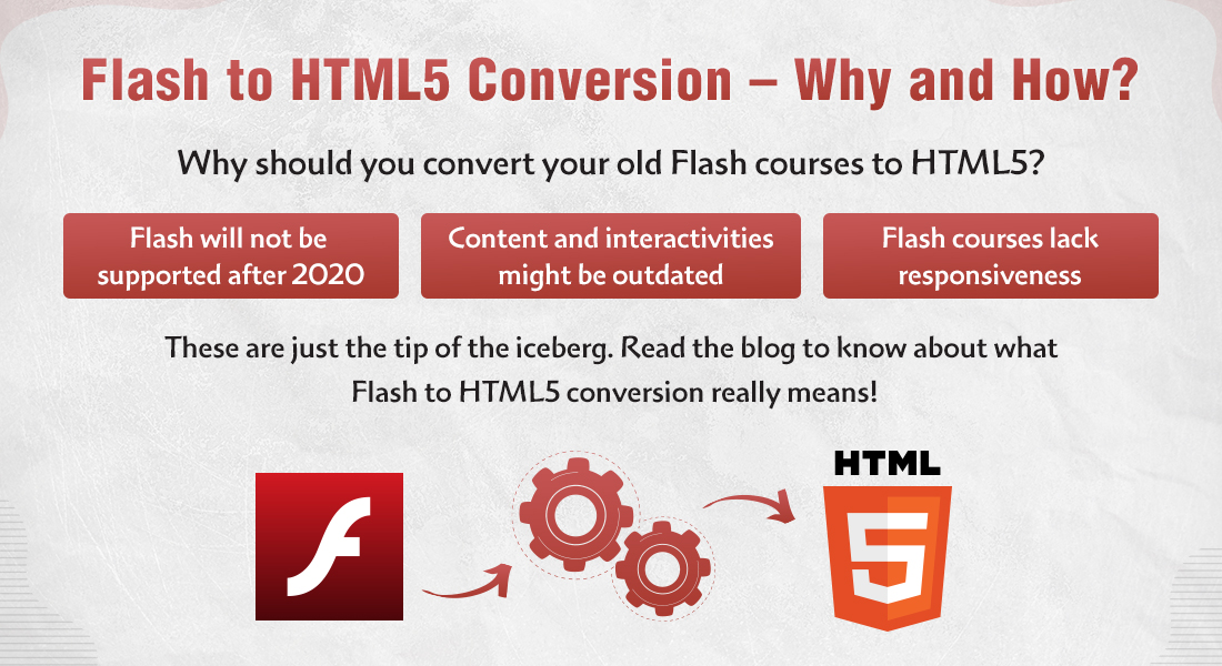 Flash to HTML5 Conversion – The 'Why's and the 'How's for Training Managers