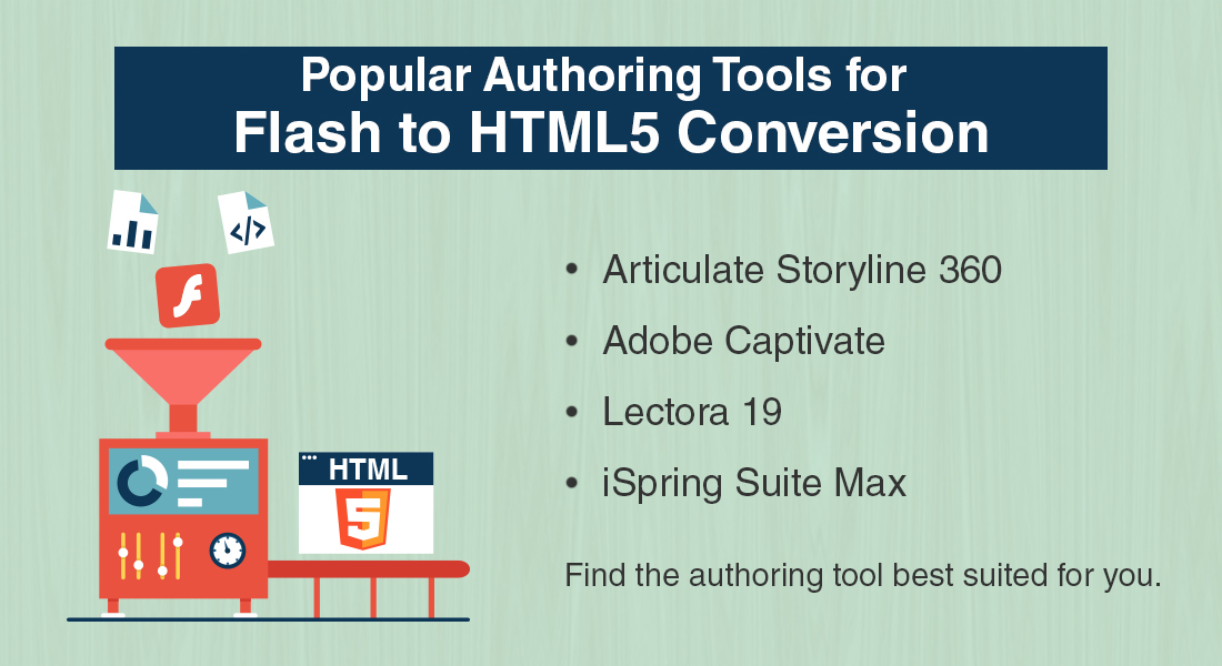 Flash to HTML5 Conversion: 4 Popular Authoring Tools to Choose From