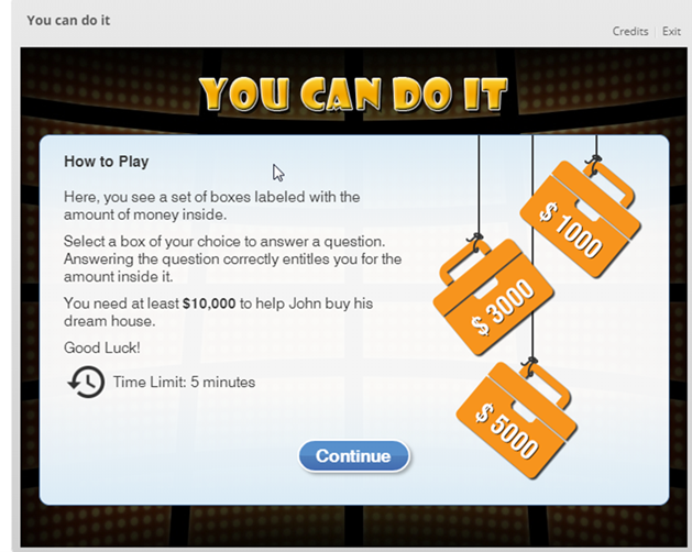 An Example of Gamification in eLearning Course