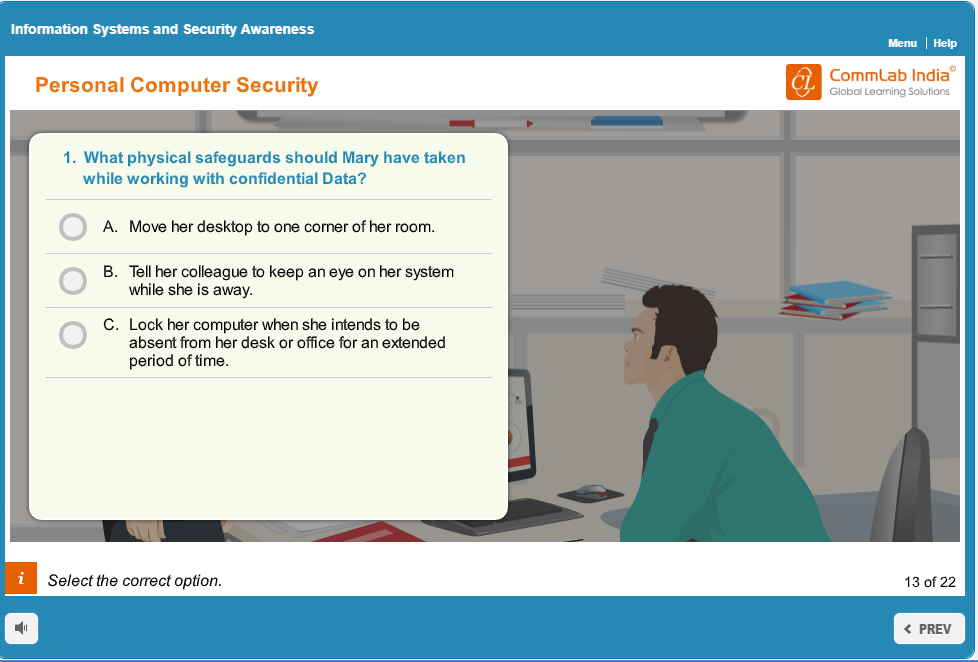 An Example of Scenario-based eLearning Course
