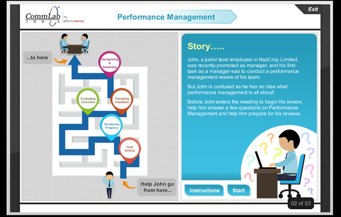 An Example of Story-based eLearning Course