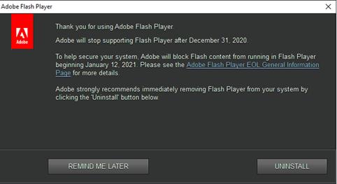 Current Status of Adobe Flash