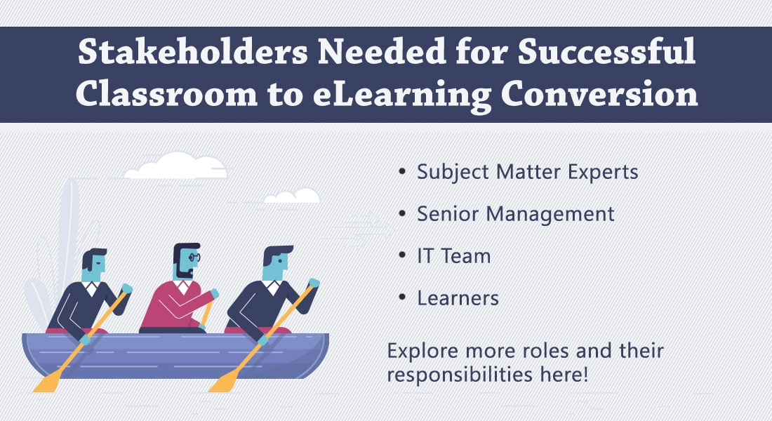 Classroom to eLearning Conversion – Do You Have These Stakeholders Onboard?