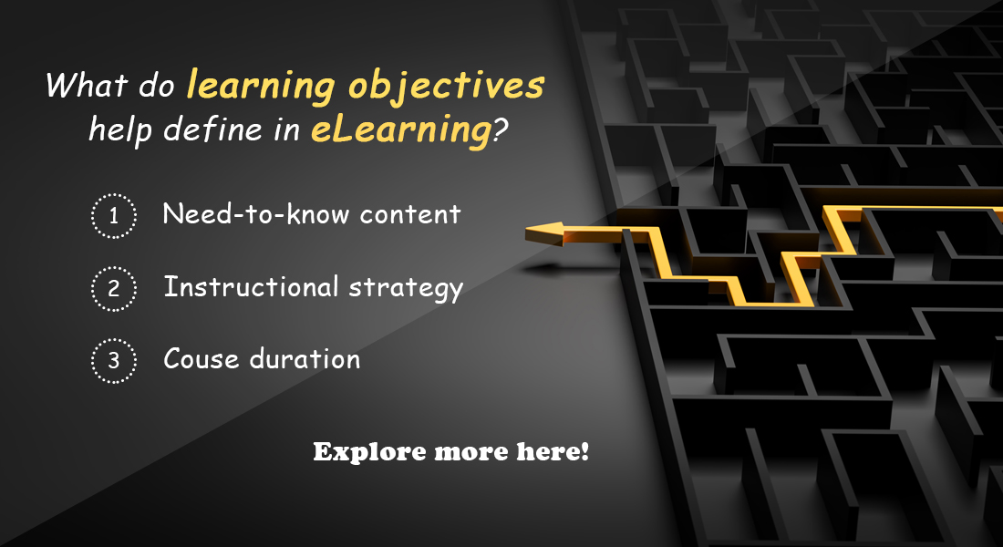 Learning Objectives for eLearning Courses – A Close Look
