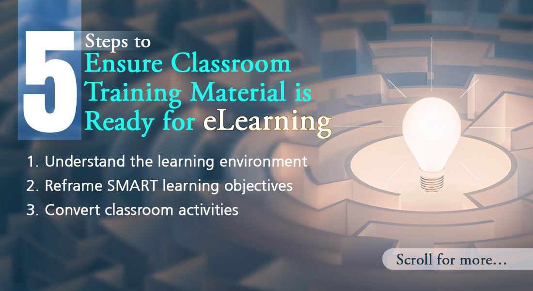 Converting Classroom Material to eLearning Simplified!