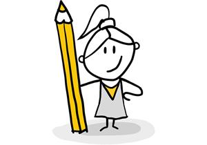 Designer Holding Pencil